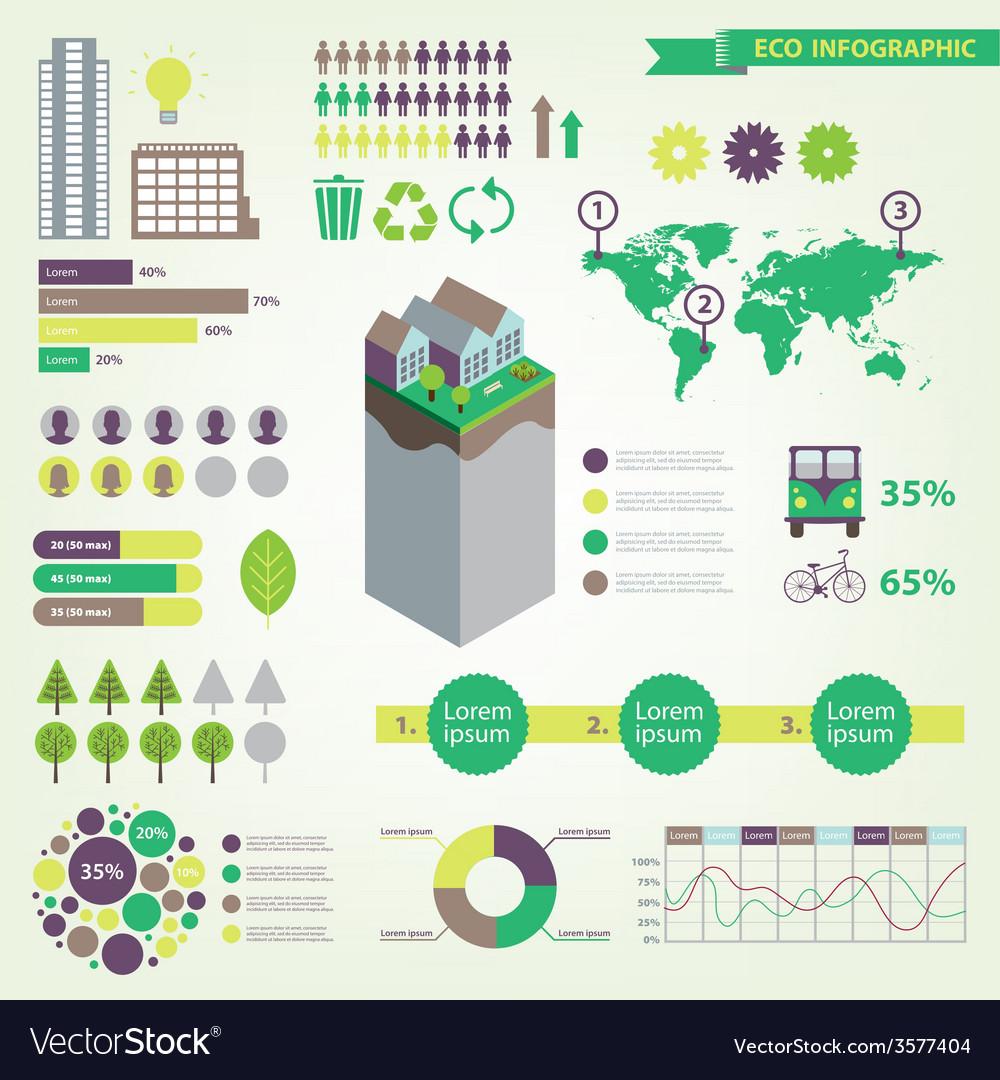 Eco infographic set vector | Price: 1 Credit (USD $1)