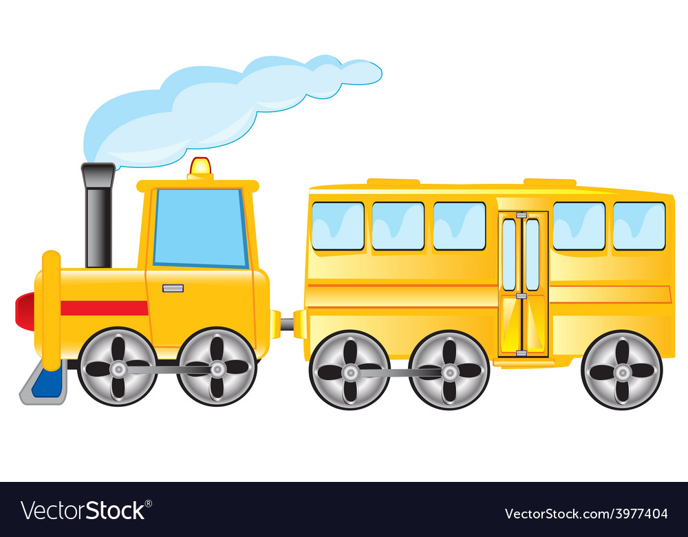 Locomotive with coach vector | Price: 1 Credit (USD $1)