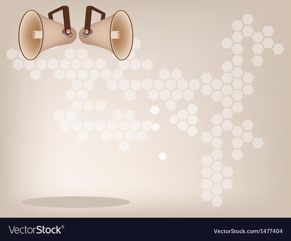 Megaphone background vector | Price: 1 Credit (USD $1)