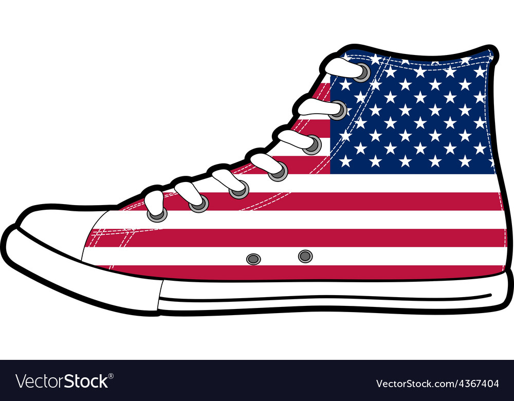 Modern sport shoes with usa flag vector | Price: 1 Credit (USD $1)
