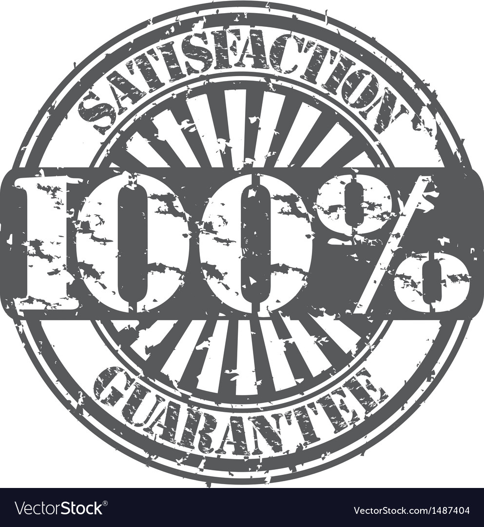 Satisifaction guarantee 100 percent grunge stamp vector | Price: 1 Credit (USD $1)