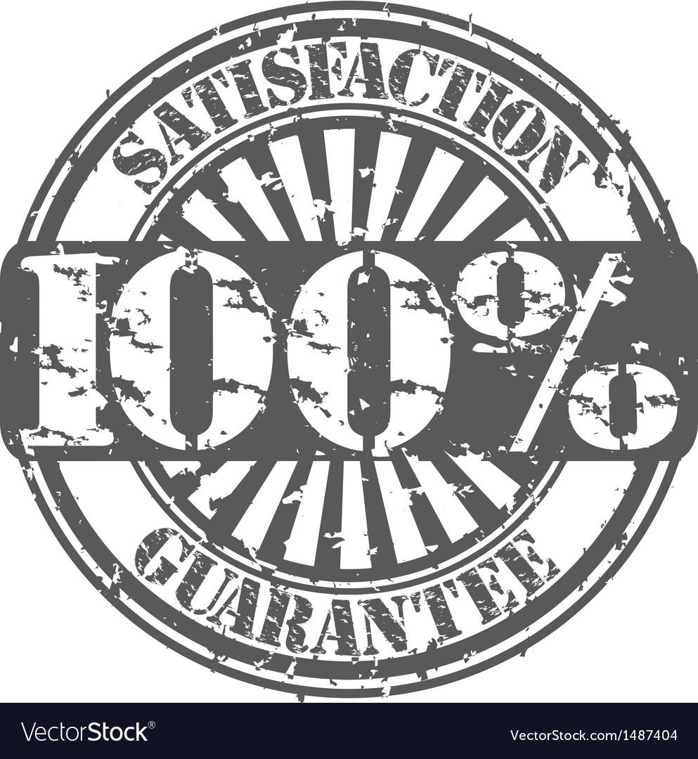Satisifaction guarantee 100 percent grunge stamp vector   Price: 1 Credit (USD $1)