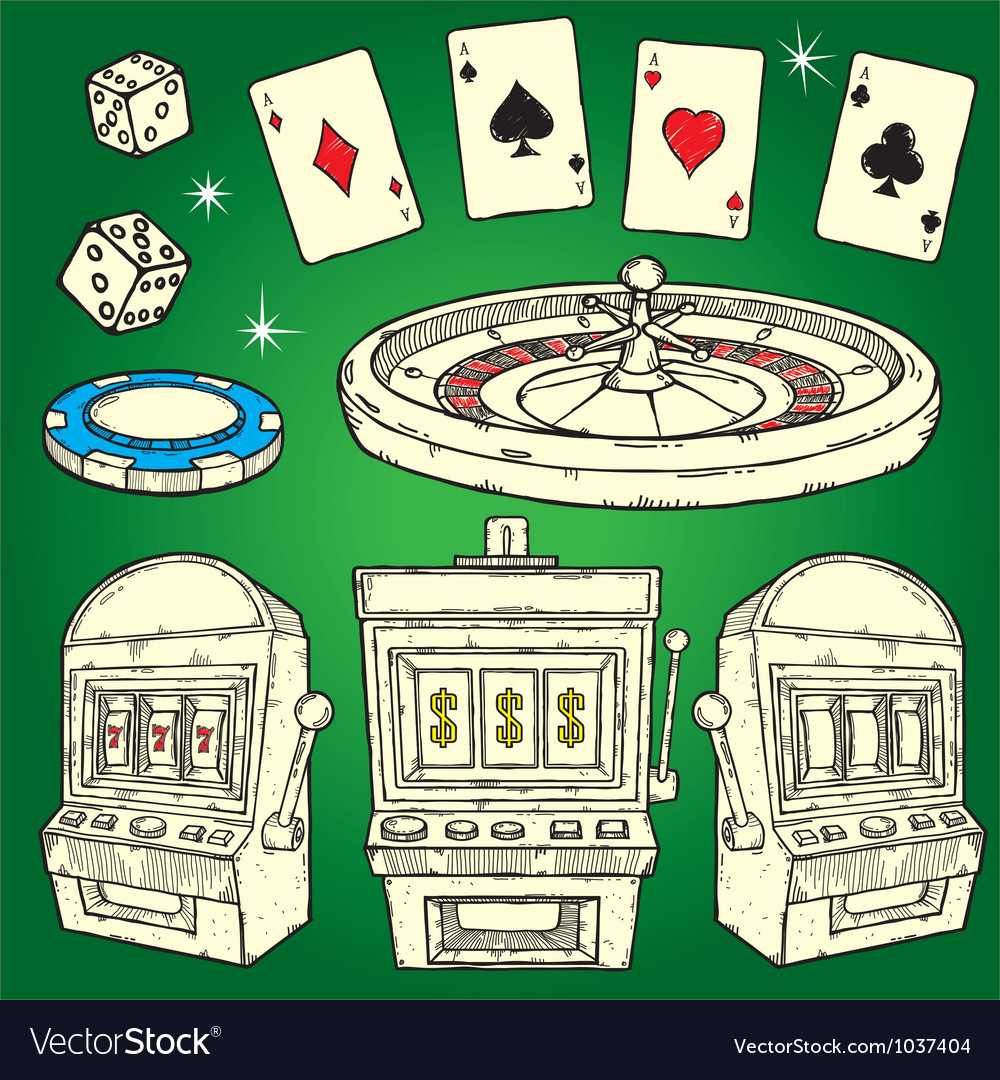 Set of casino icons vector | Price: 3 Credit (USD $3)