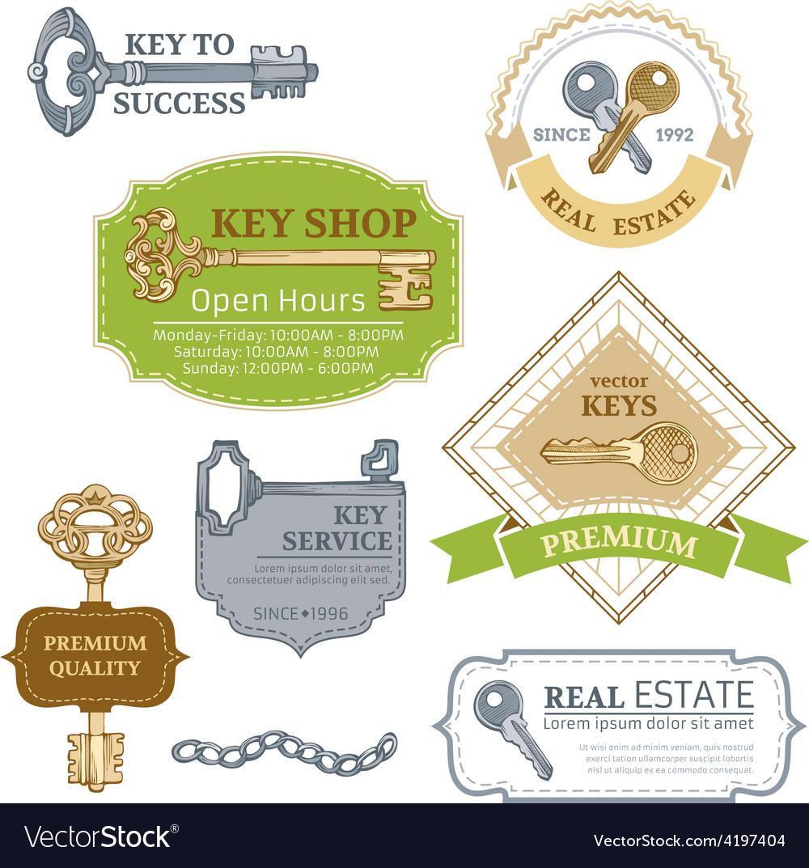 Set of keys design elements vector | Price: 1 Credit (USD $1)