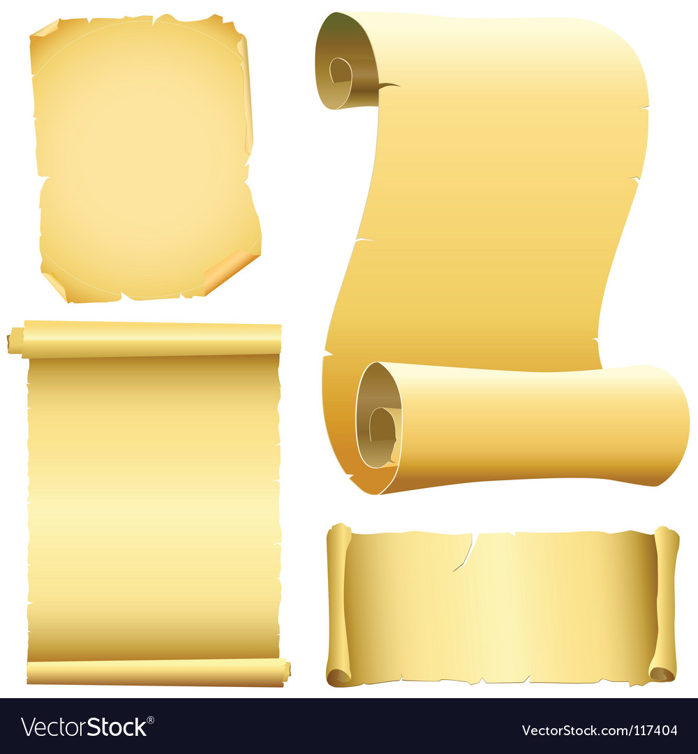 Set of old papers vector | Price: 1 Credit (USD $1)