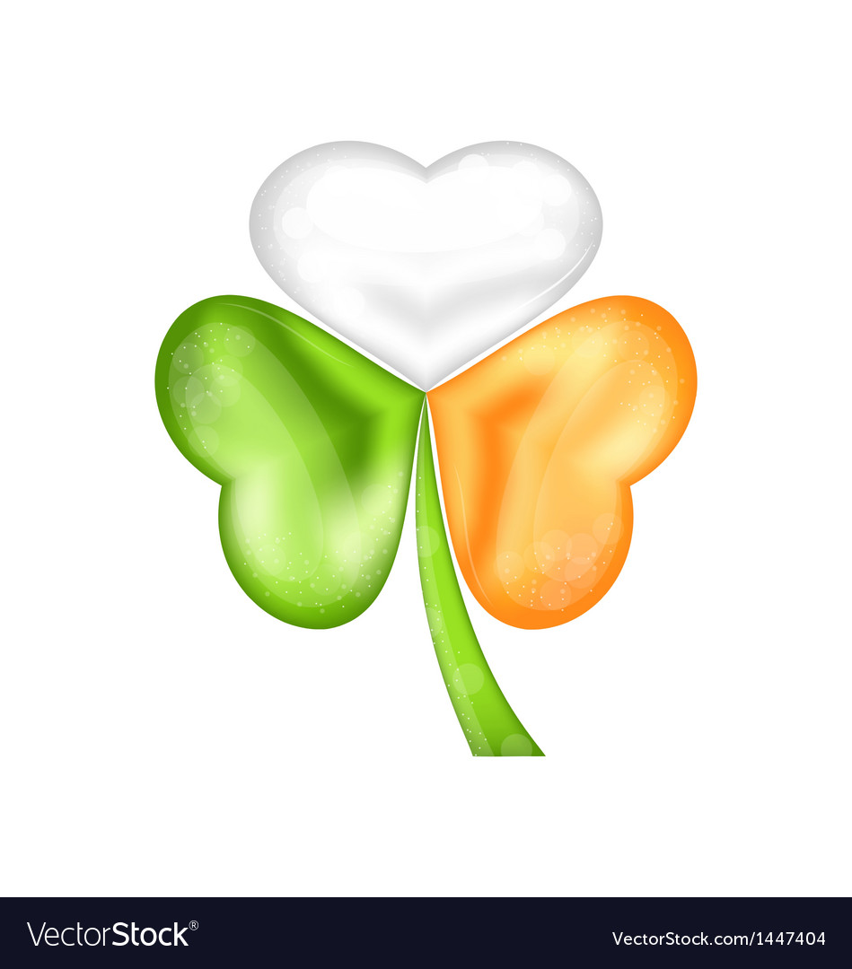 Shamrock in irish flag color for saint patrick day vector | Price: 1 Credit (USD $1)