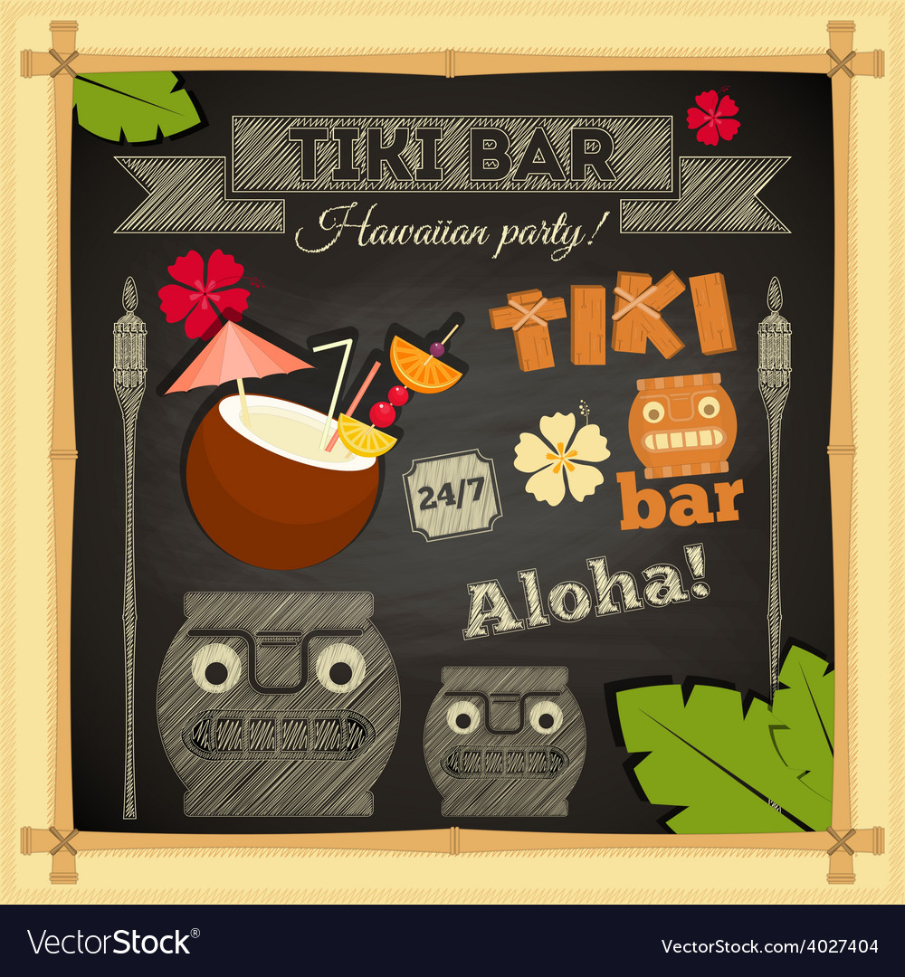 Tiki bar vector | Price: 1 Credit (USD $1)