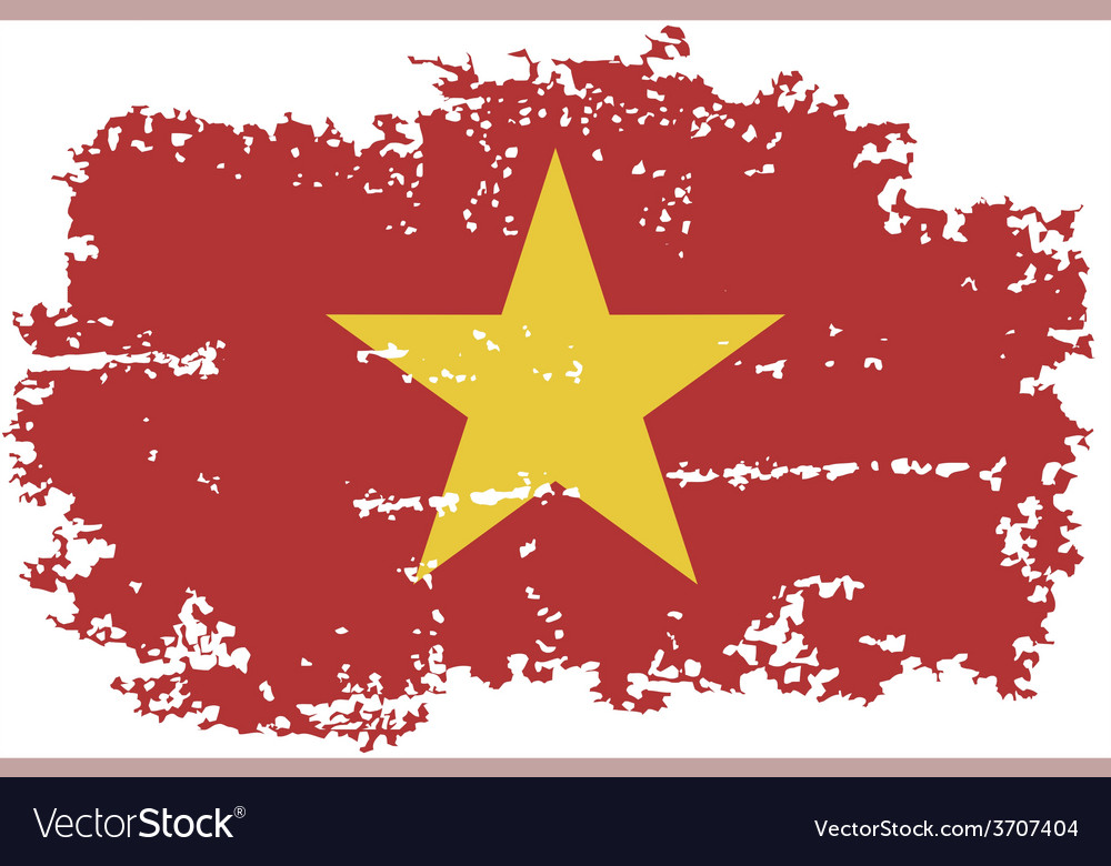 Vietnamese grunge flag vector | Price: 1 Credit (USD $1)