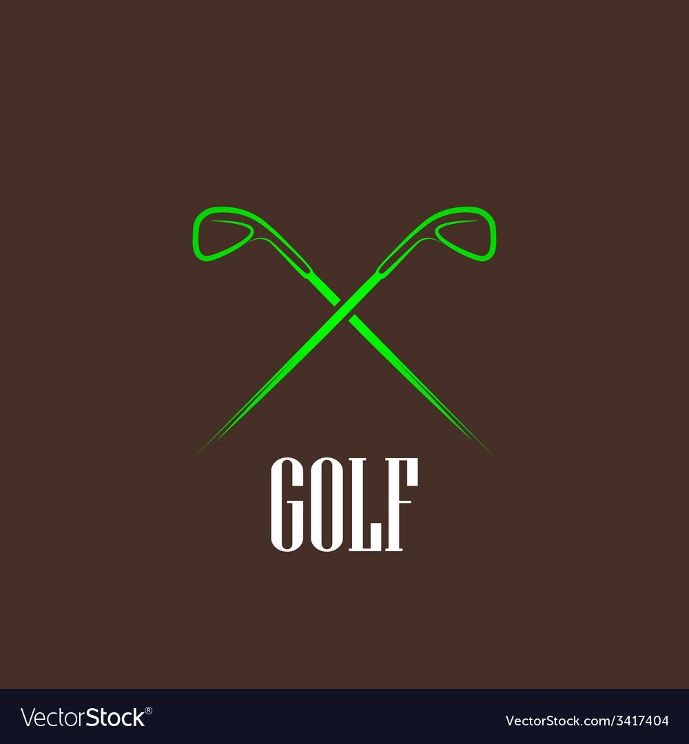 Vintage with a golf drivers vector | Price: 1 Credit (USD $1)