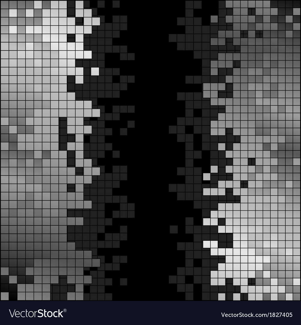 Abstract background with black and white pixels vector | Price: 1 Credit (USD $1)
