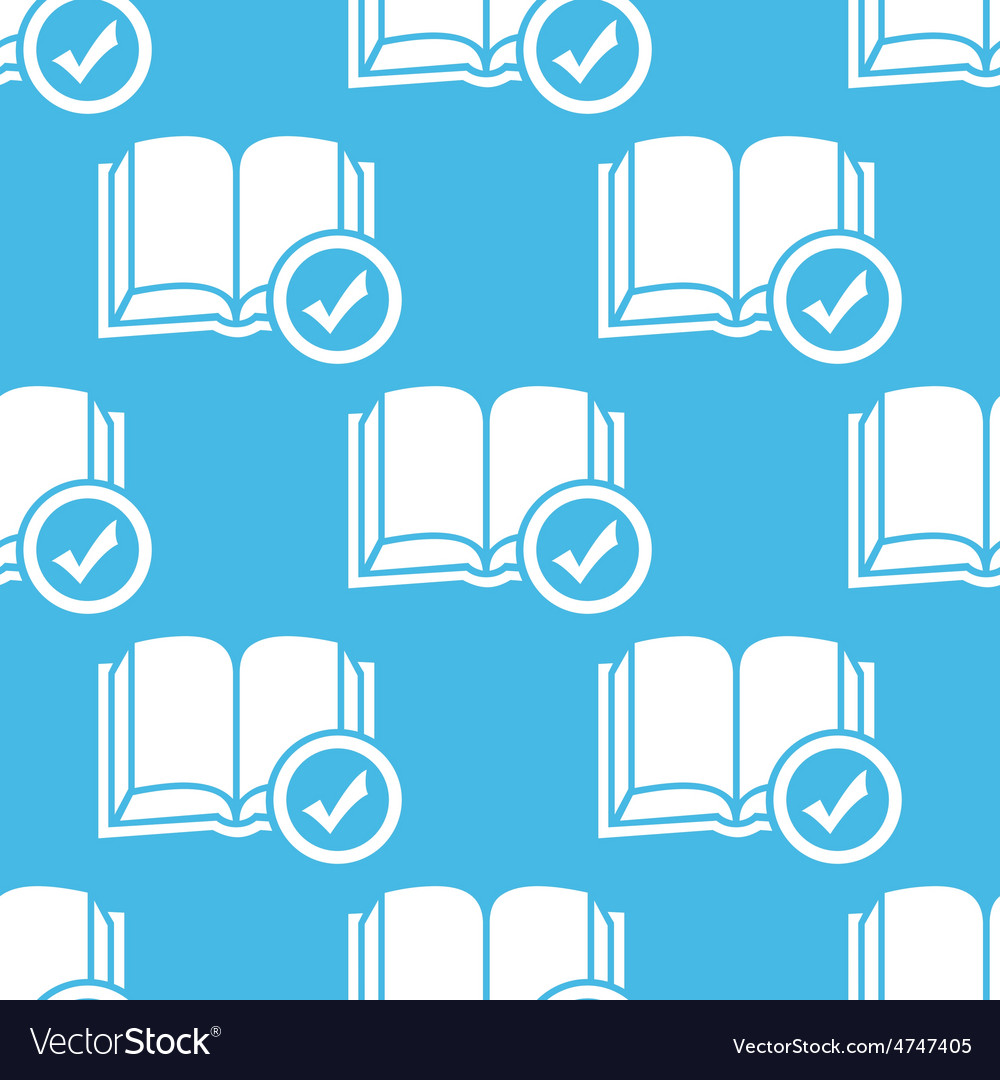 Blue selected book pattern vector | Price: 1 Credit (USD $1)
