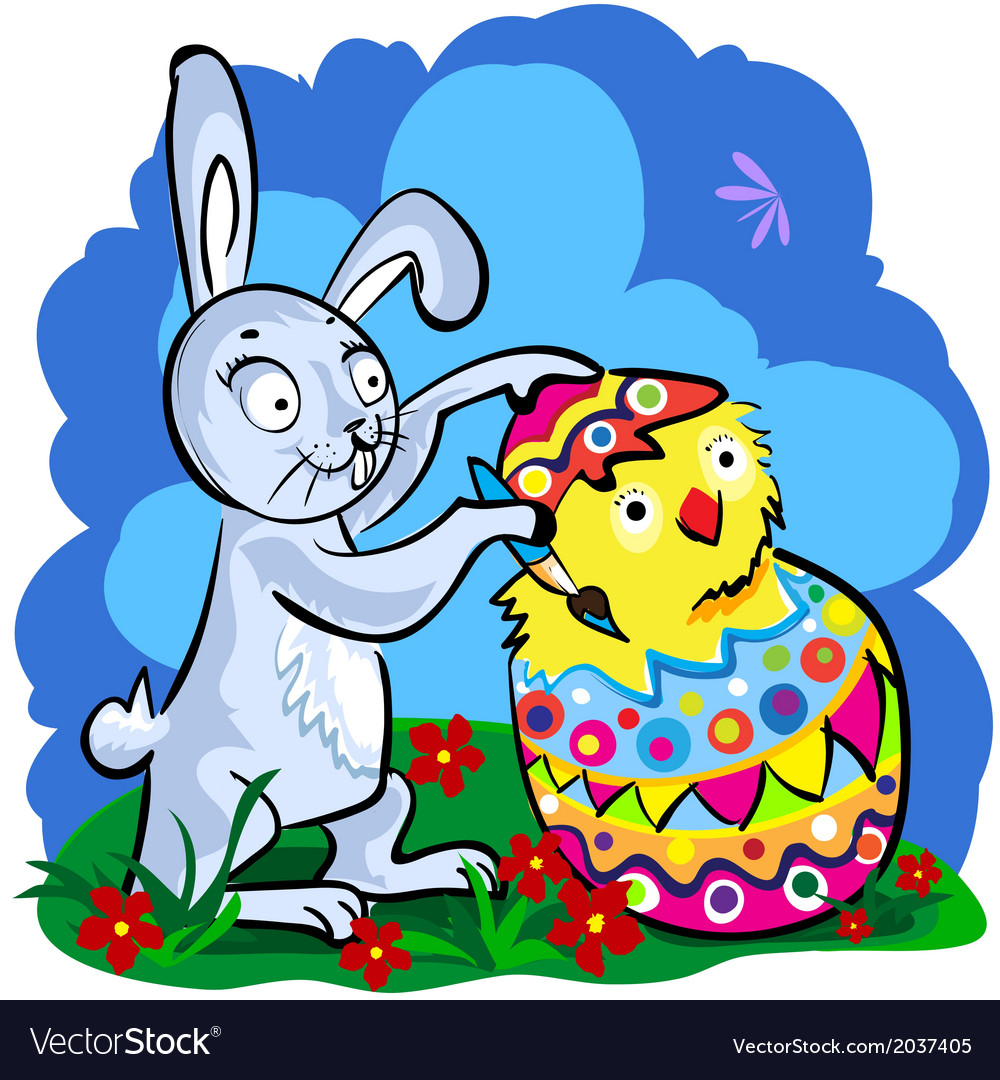 Cartoon easter bunny vector | Price: 1 Credit (USD $1)