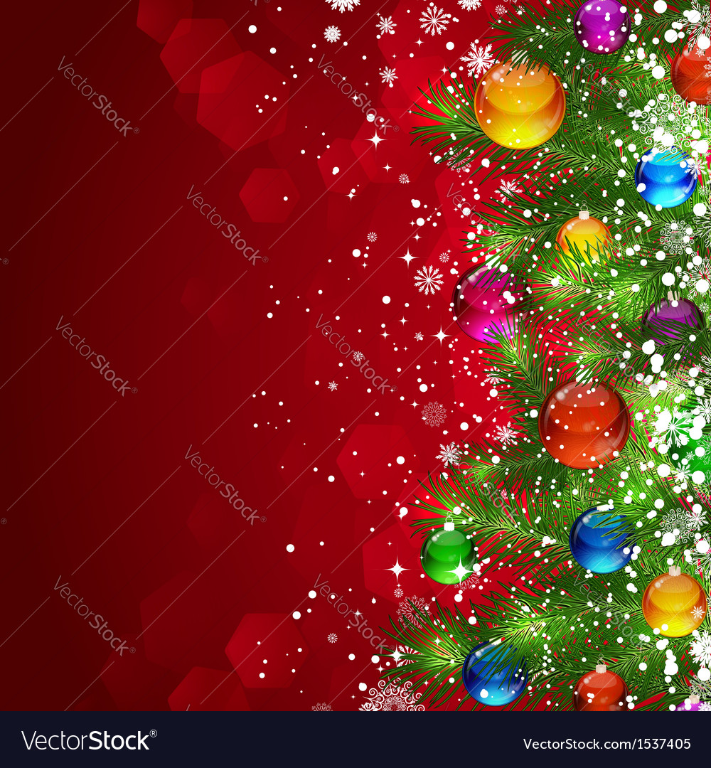 Christmas tree background vector | Price: 5 Credit (USD $5)