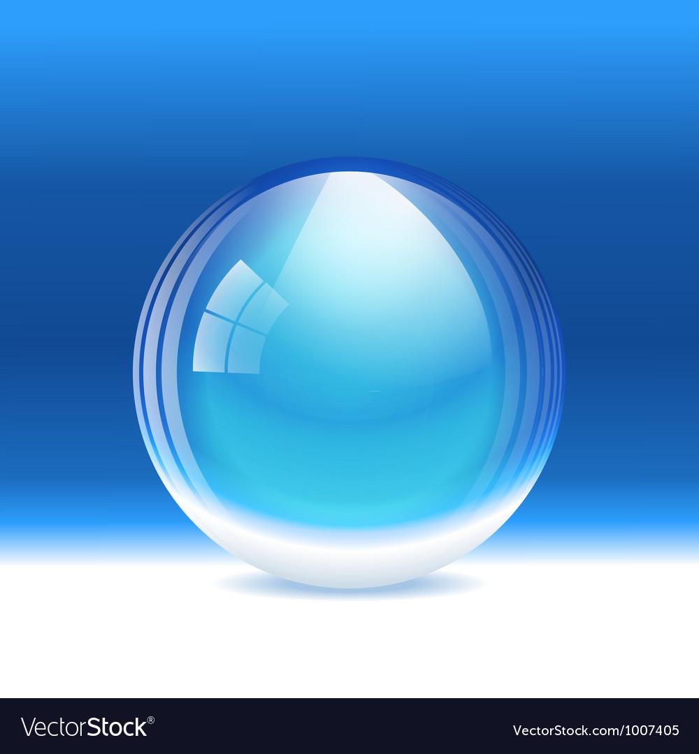 Empty transparent snow globe vector | Price: 1 Credit (USD $1)