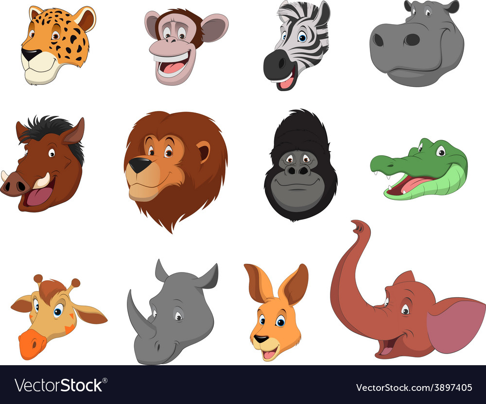 Funny animals vector | Price: 1 Credit (USD $1)