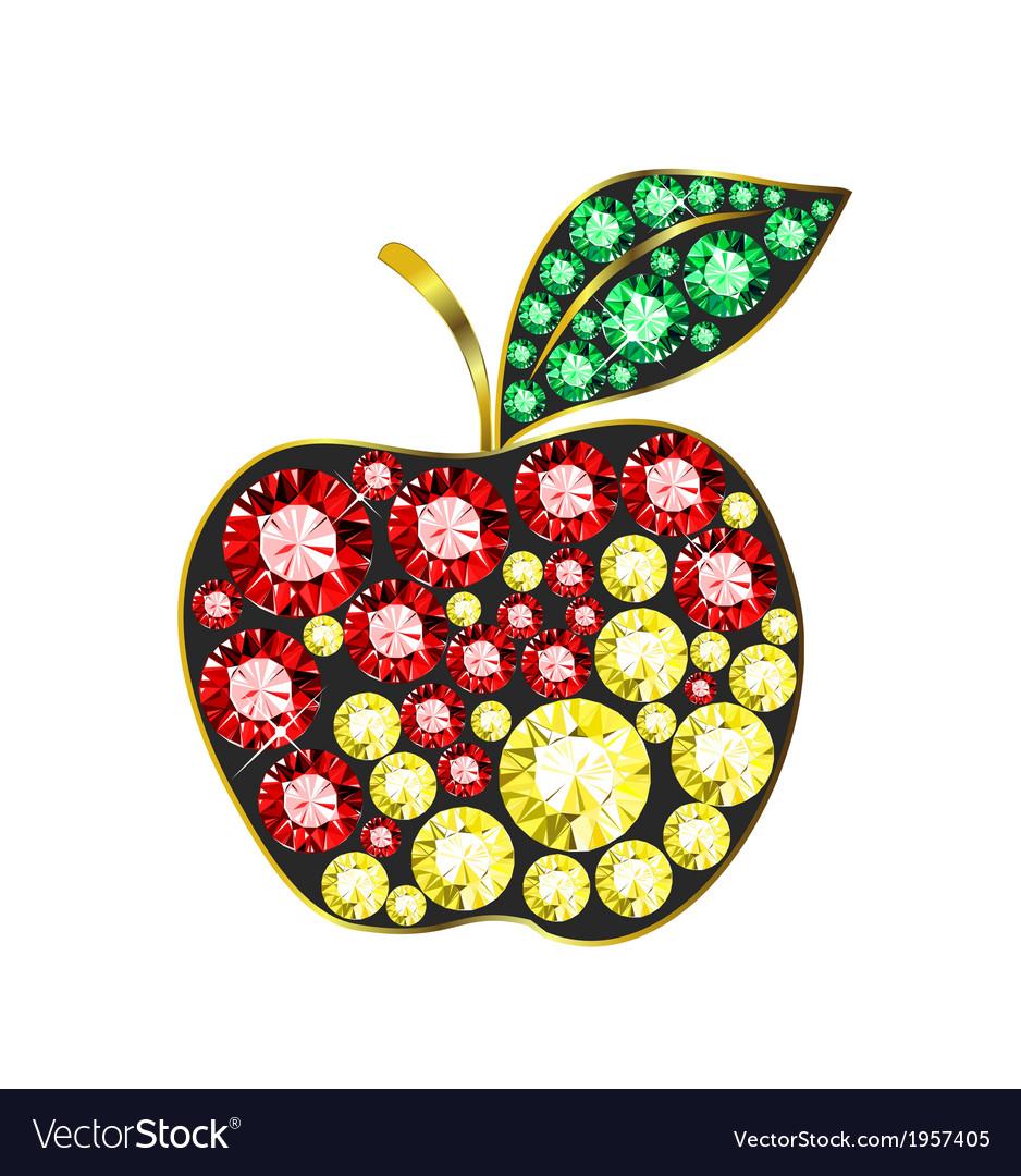 Gem apple vector | Price: 1 Credit (USD $1)