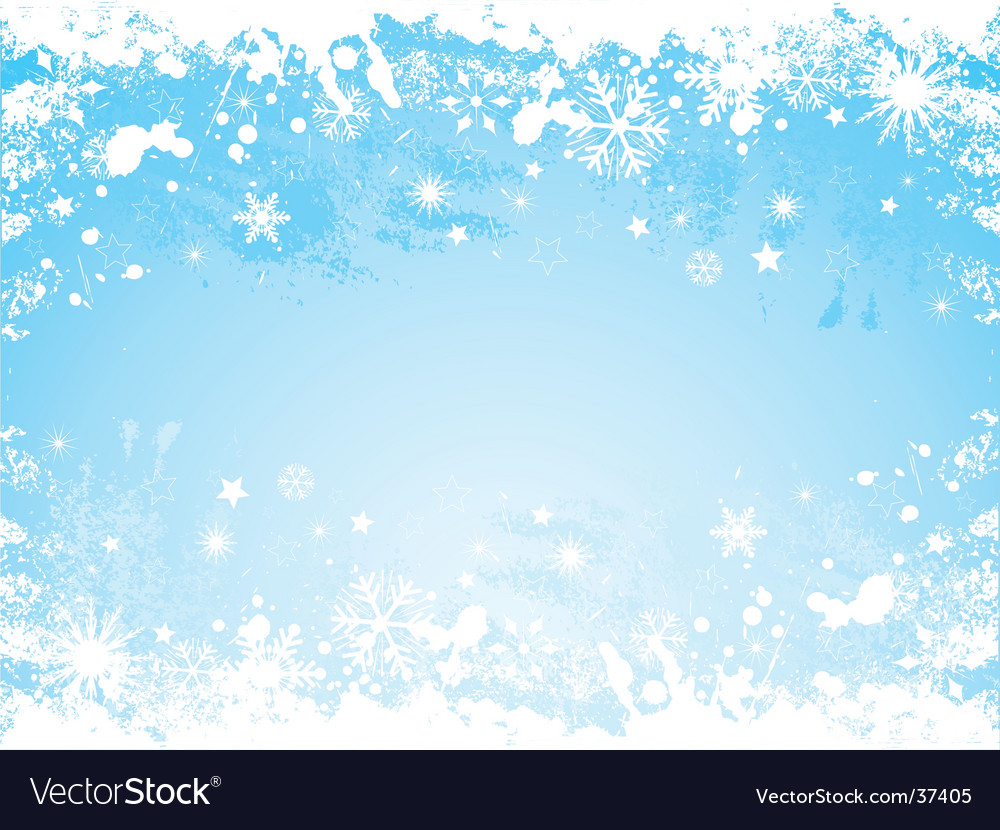 Grunge snowflake border vector | Price: 1 Credit (USD $1)