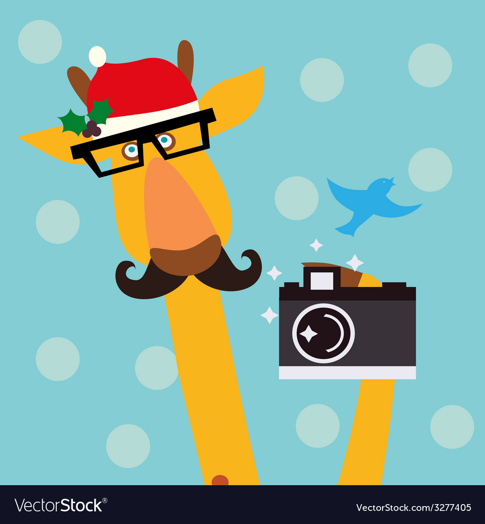 Holiday with giraffe vector | Price: 1 Credit (USD $1)