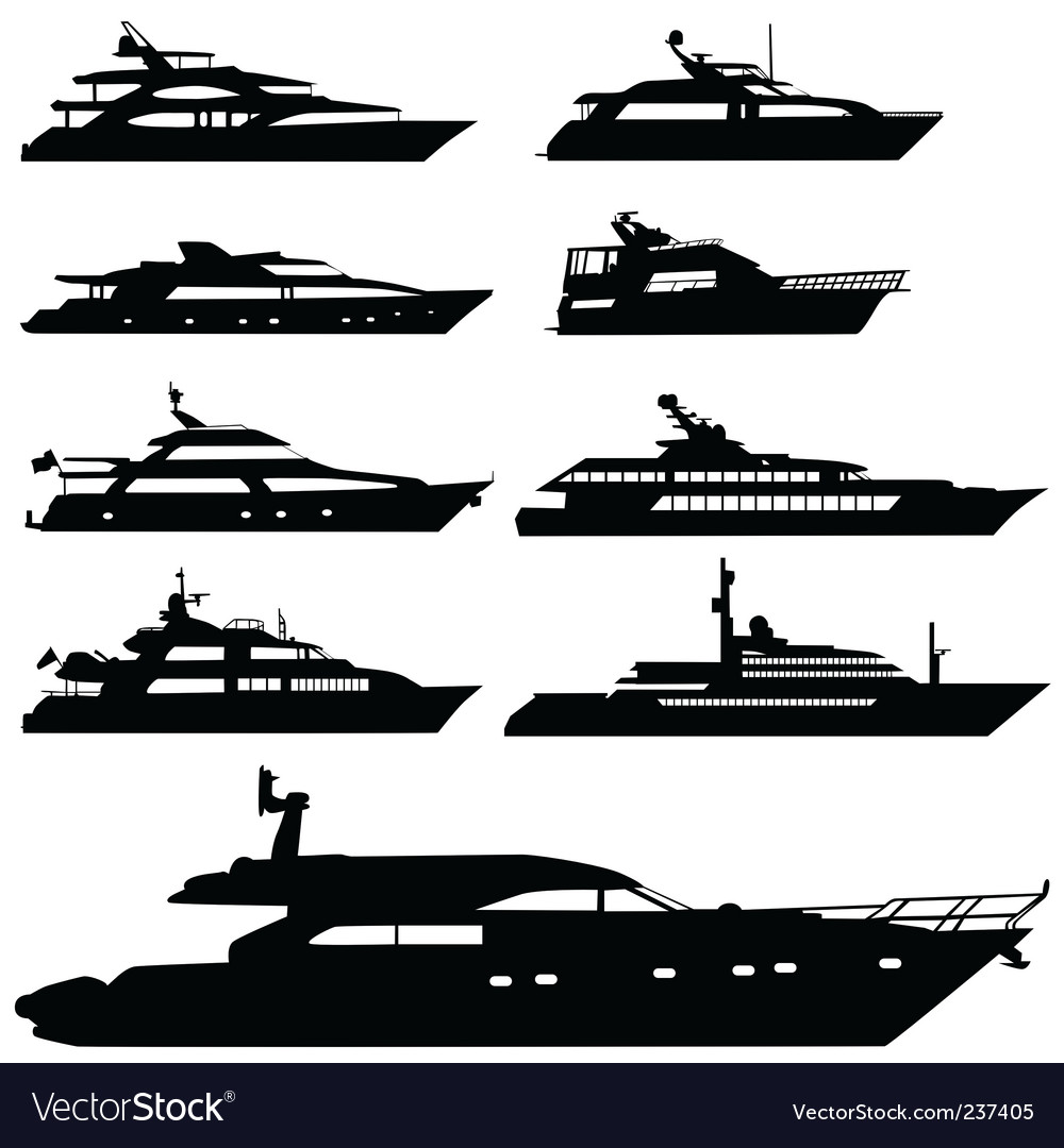 Motor yacht vector | Price: 1 Credit (USD $1)