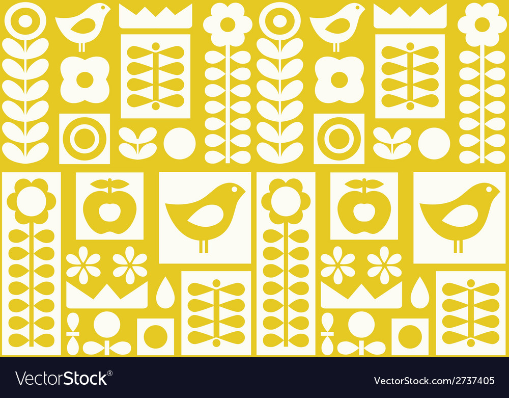 Scandinavian folk ornament vector | Price: 1 Credit (USD $1)