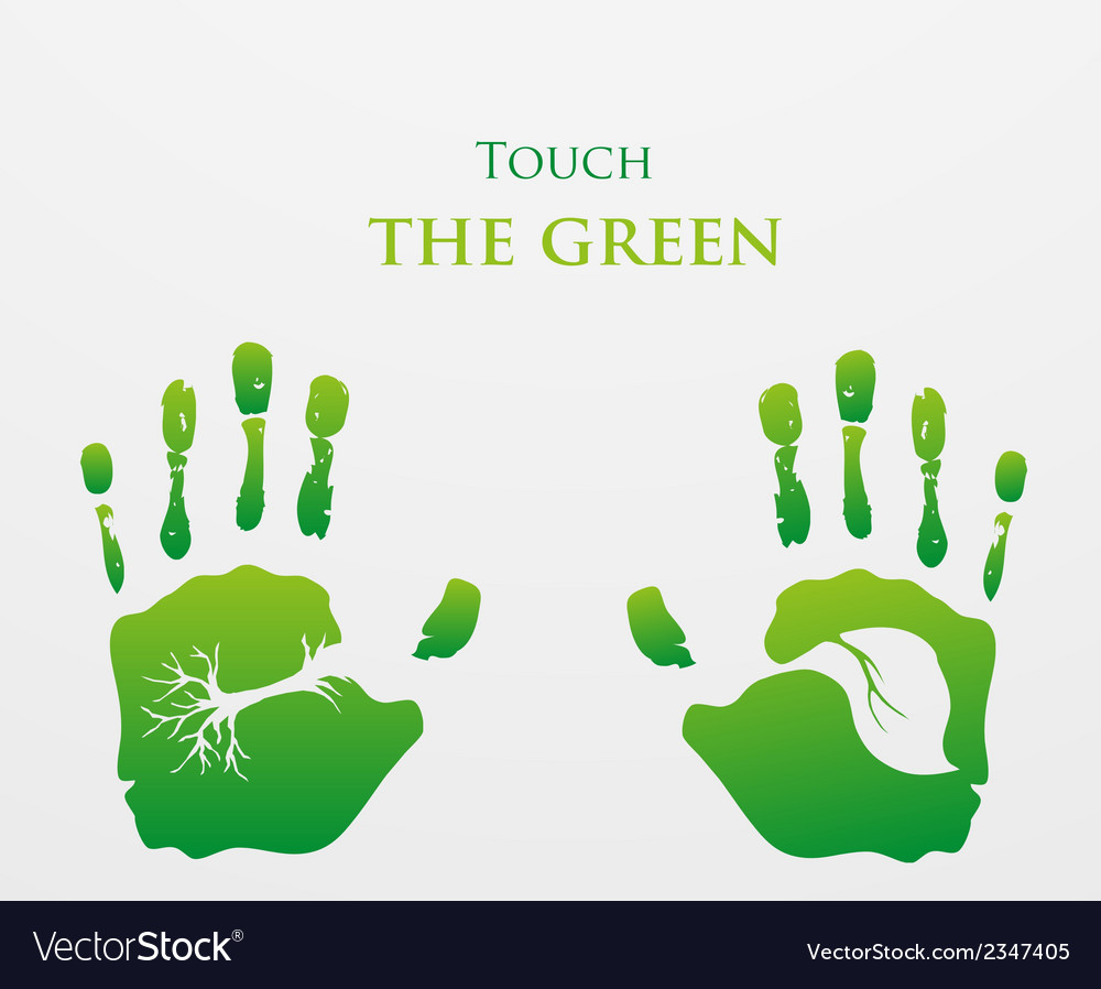 Think green ecology concept vector | Price: 1 Credit (USD $1)