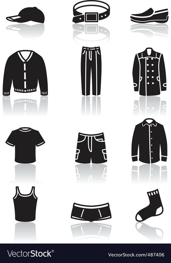 Clothes icons vector