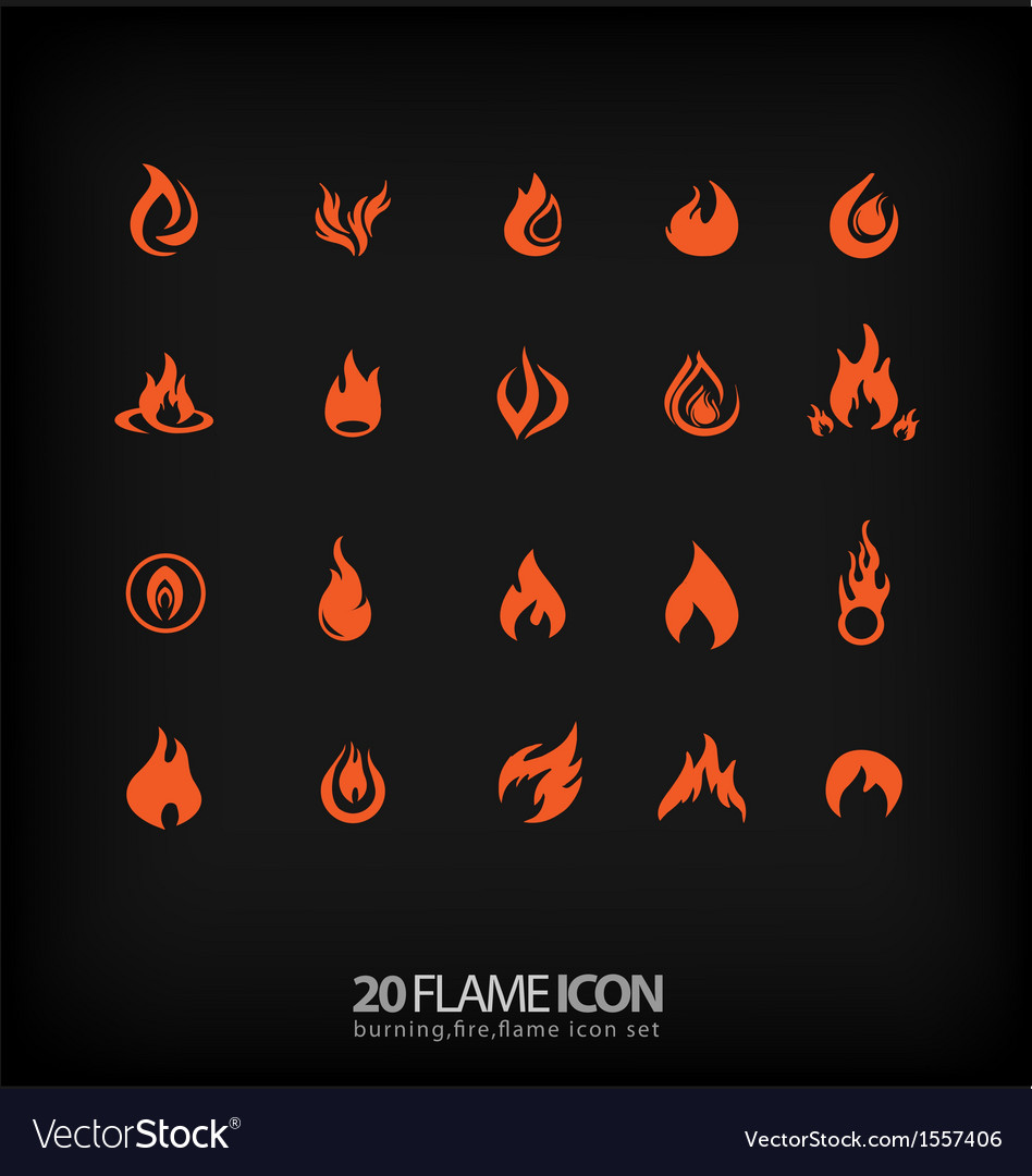 Flame icons 2 vector | Price: 1 Credit (USD $1)