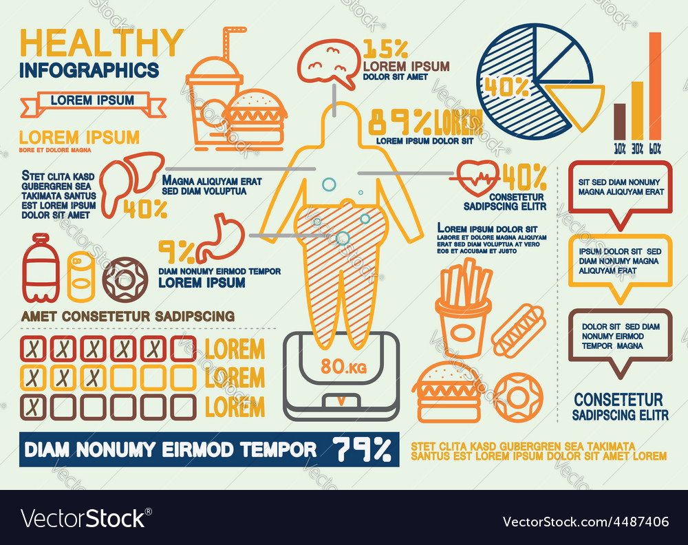 Healthy infographics vector | Price: 1 Credit (USD $1)