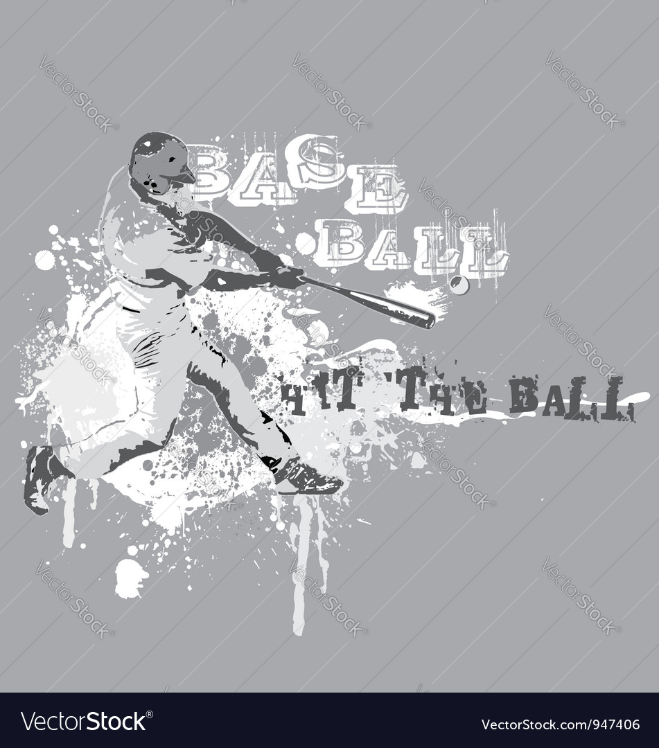 Hit the ball vector | Price: 1 Credit (USD $1)