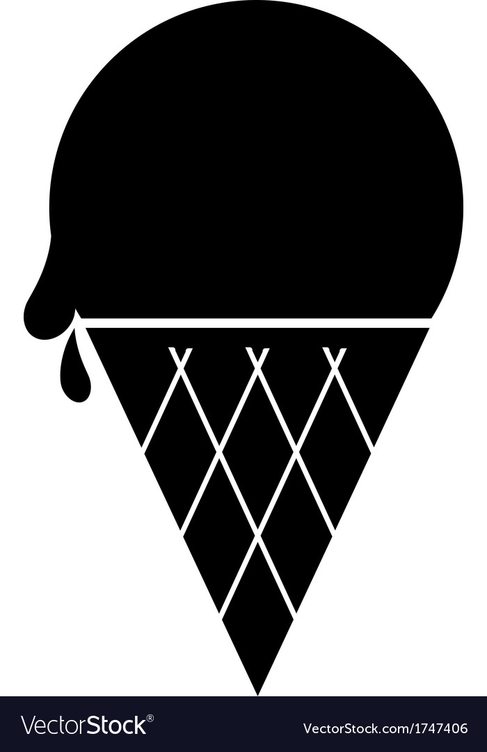 Icecream icon black vector | Price: 1 Credit (USD $1)