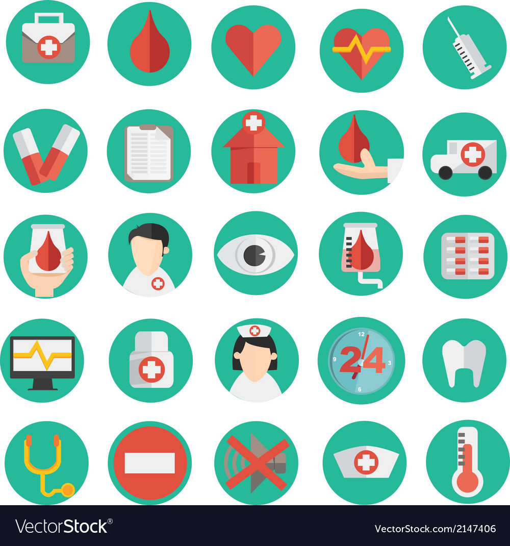 Medical icon in flat design vector | Price: 1 Credit (USD $1)