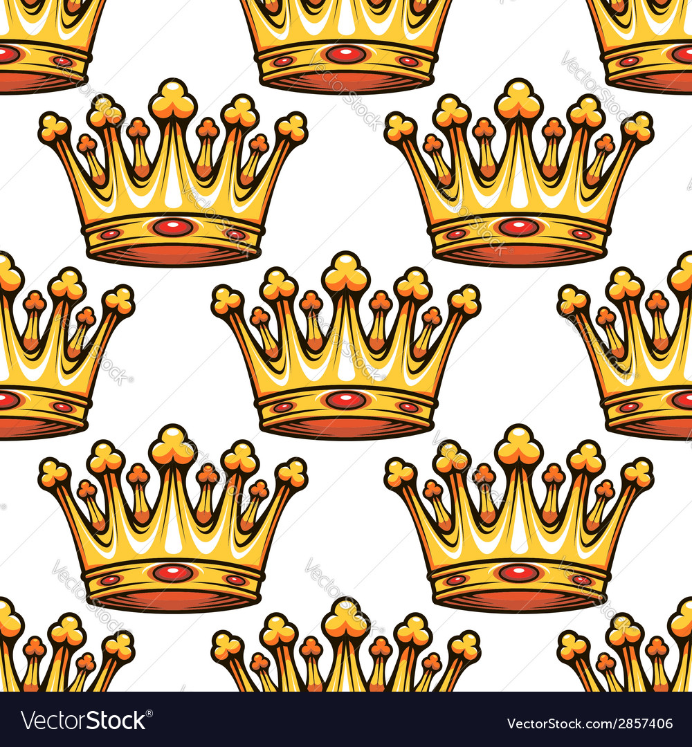 Seamless pattern of medieval royal crowns vector | Price: 1 Credit (USD $1)