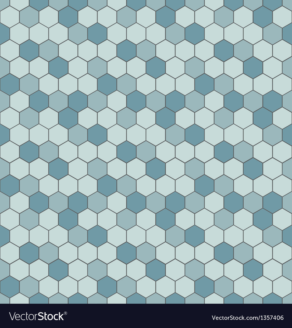 Seamless pattern with hexagon shapes vector | Price: 1 Credit (USD $1)