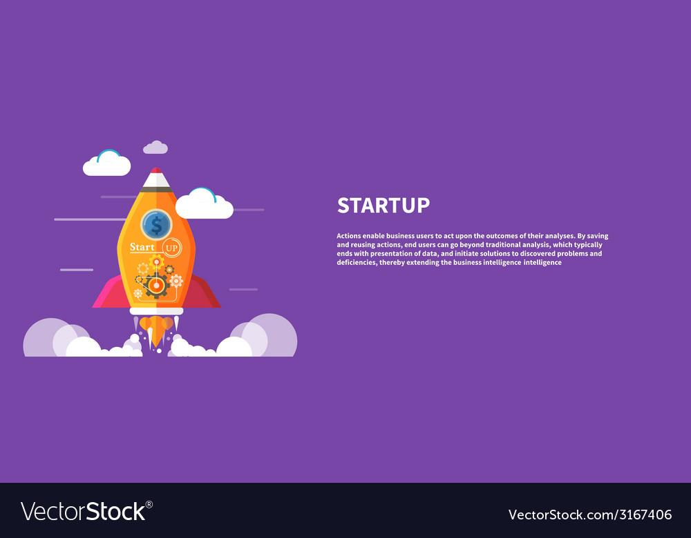 Start up rocket vector   Price: 1 Credit (USD $1)