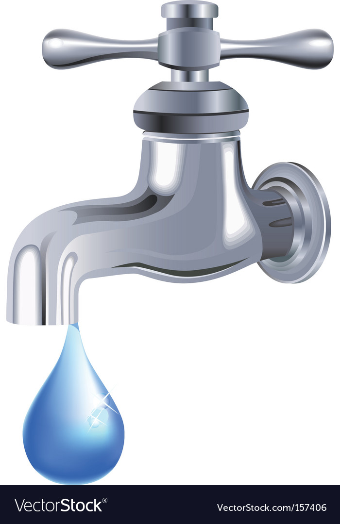 Water tap faucet vector | Price: 1 Credit (USD $1)