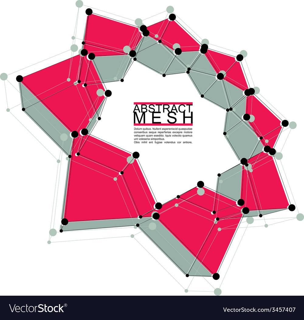 Abstract mesh template for technology theme vector | Price: 1 Credit (USD $1)