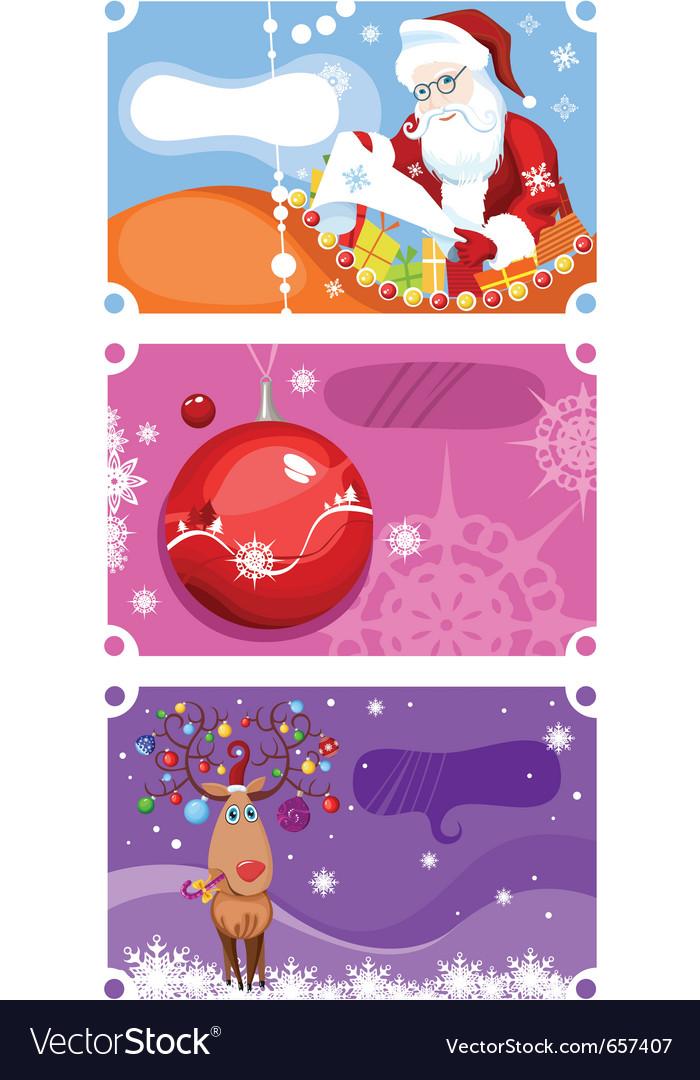 Christmas card set vector   Price: 3 Credit (USD $3)