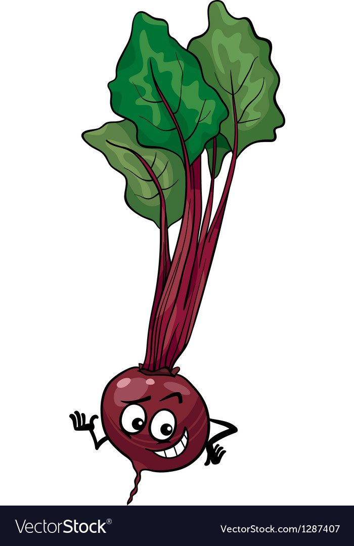 Cute beet vegetable cartoon vector | Price: 1 Credit (USD $1)