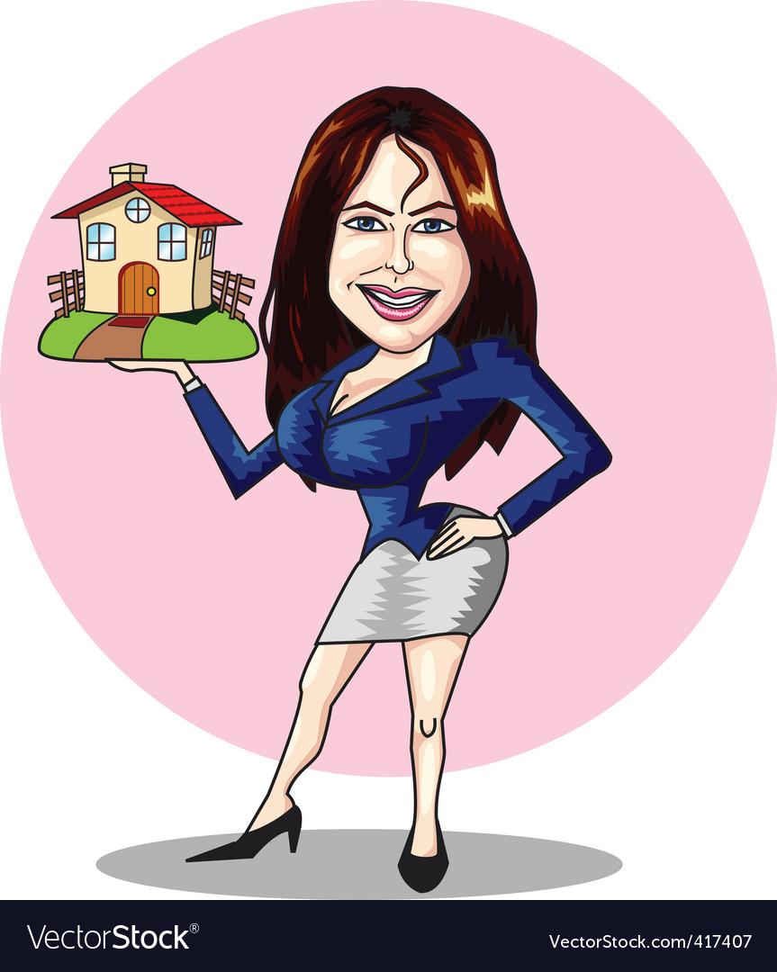 Estate agent vector | Price: 1 Credit (USD $1)