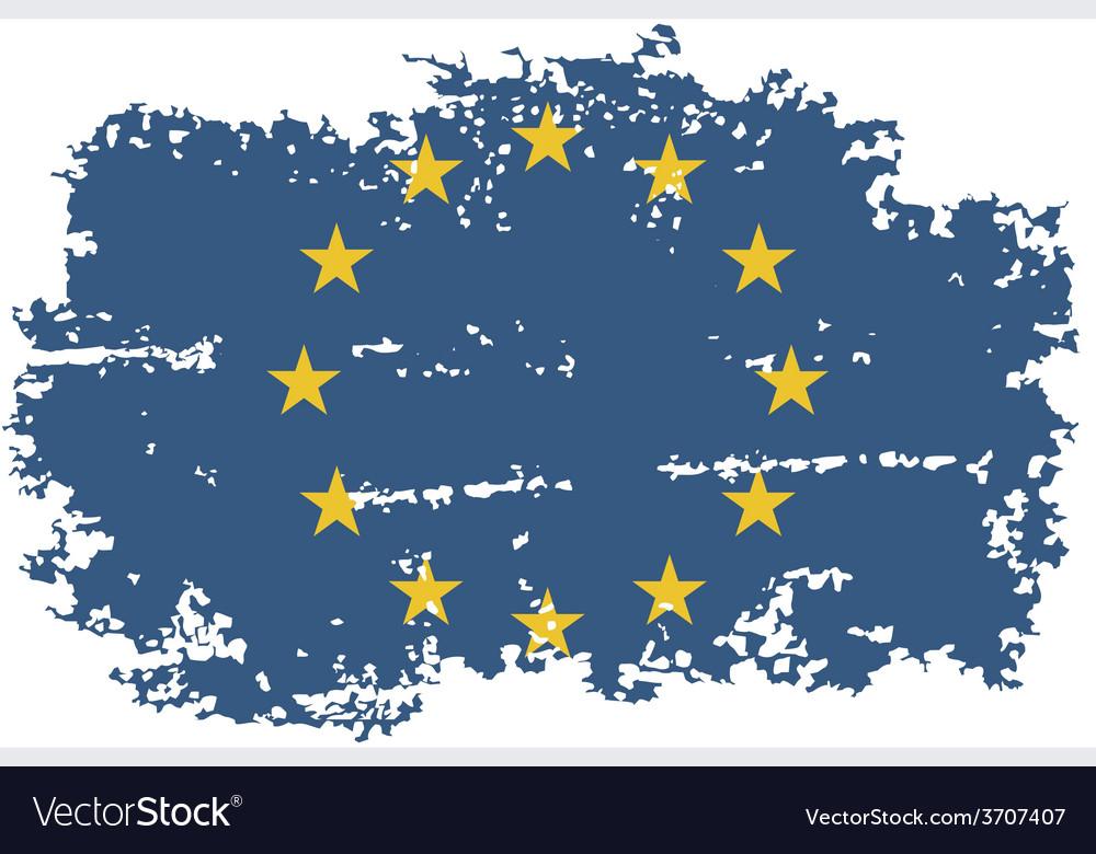 European union grunge flag vector | Price: 1 Credit (USD $1)