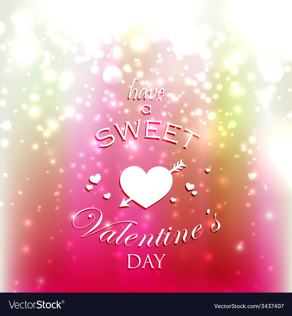 Holiday with red hearts and sparkles have a sweet vector | Price: 1 Credit (USD $1)