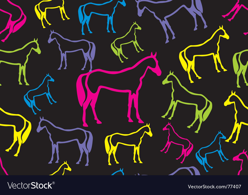 Horse seamless vector | Price: 1 Credit (USD $1)