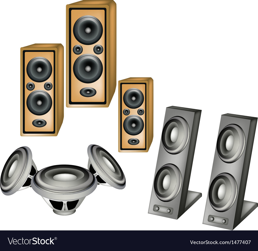 Set of speaker vector | Price: 1 Credit (USD $1)