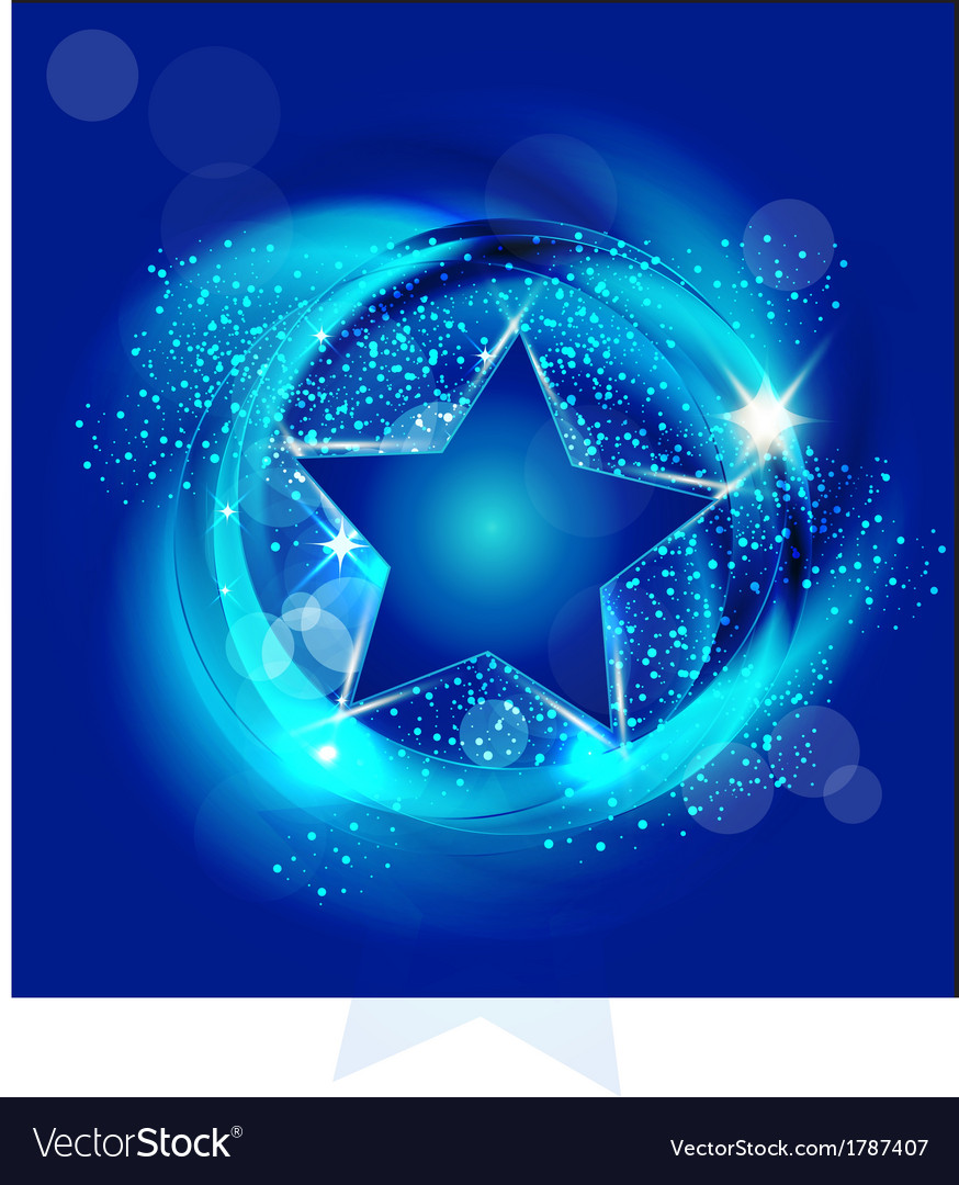 Star with blue background vector | Price: 1 Credit (USD $1)