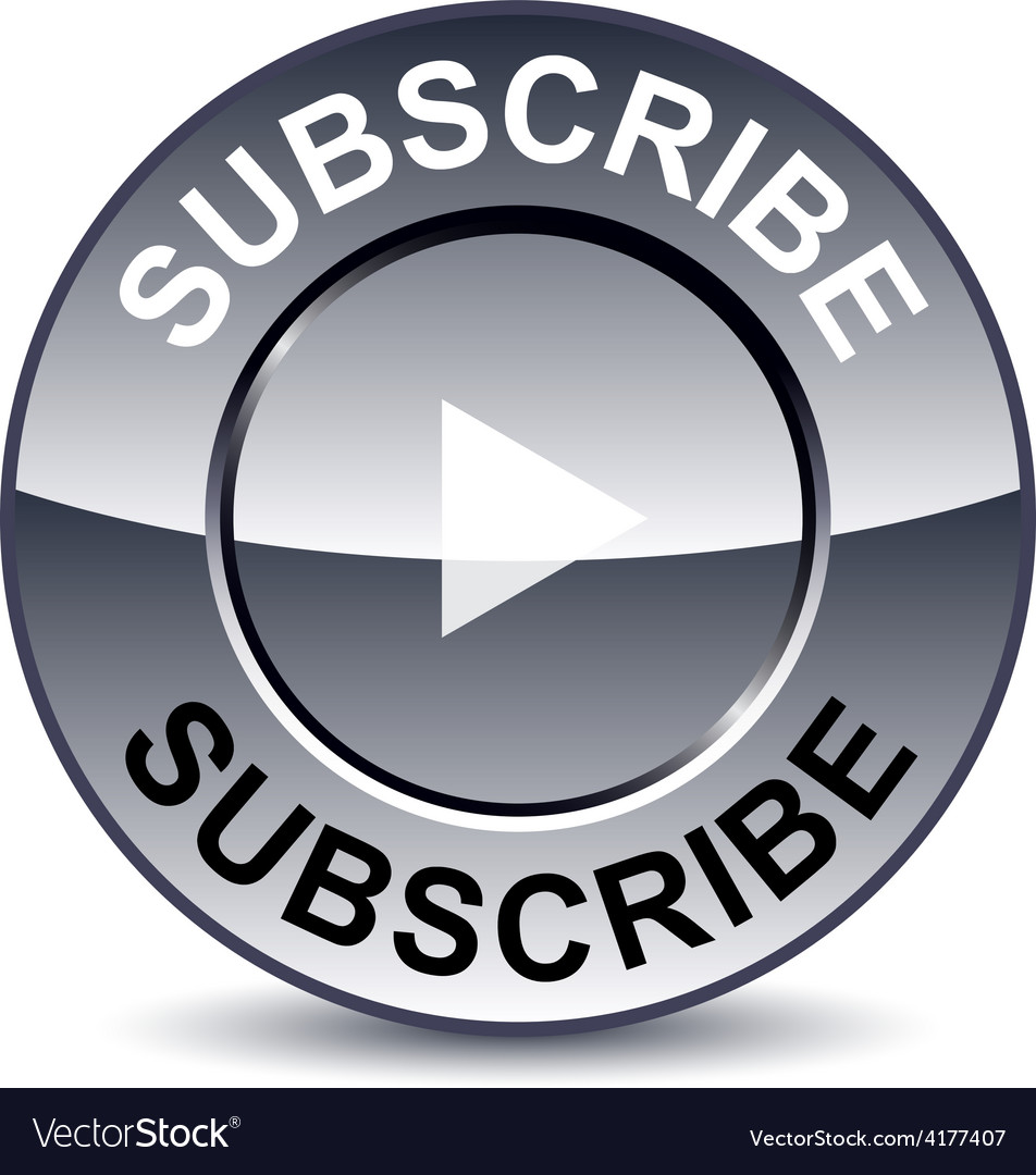 Subscribe round button vector | Price: 1 Credit (USD $1)