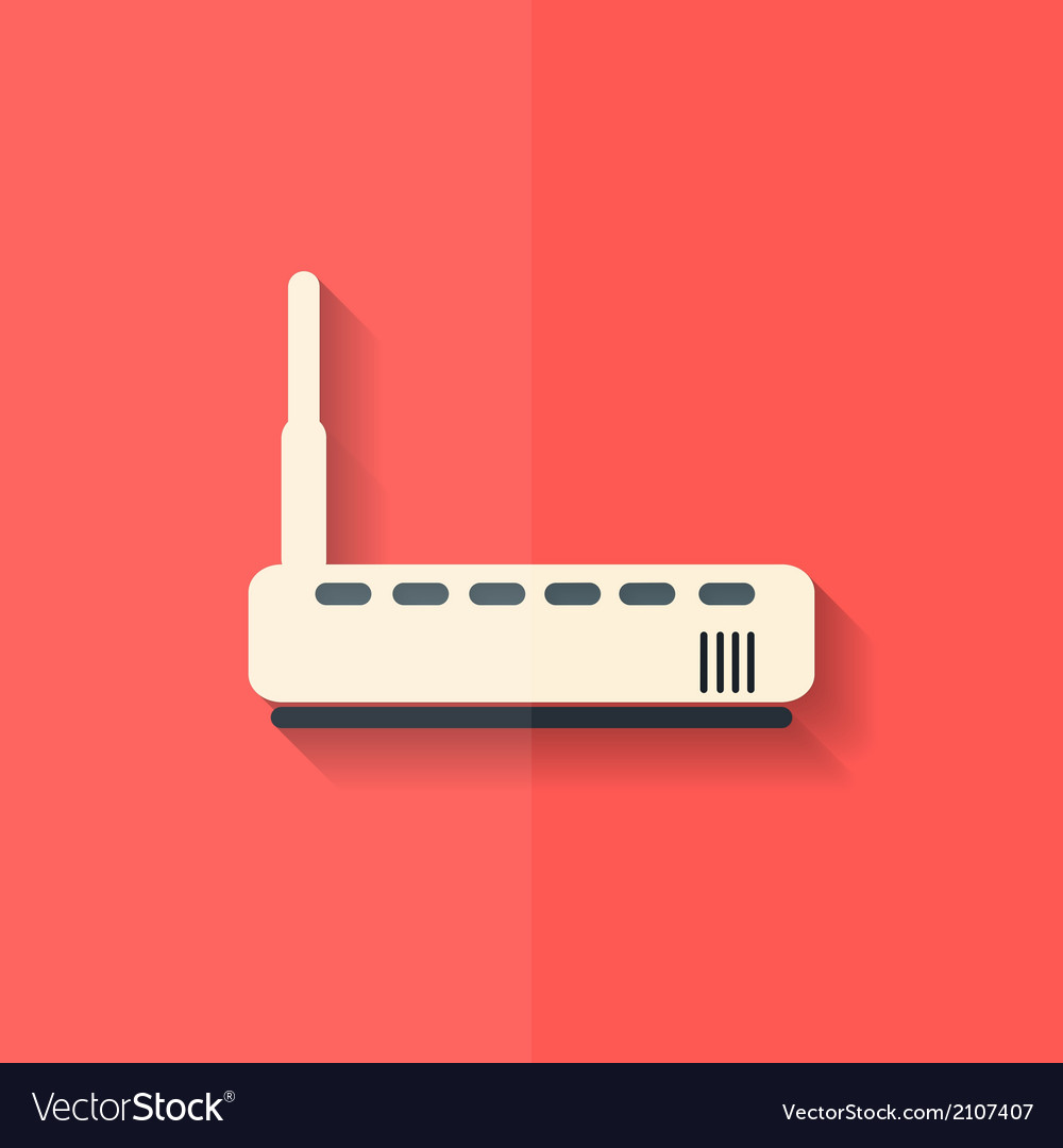 Wi fi router web icon flat design vector | Price: 1 Credit (USD $1)