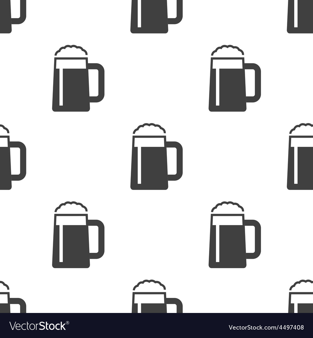 Glass of beer seamless pattern vector | Price: 1 Credit (USD $1)