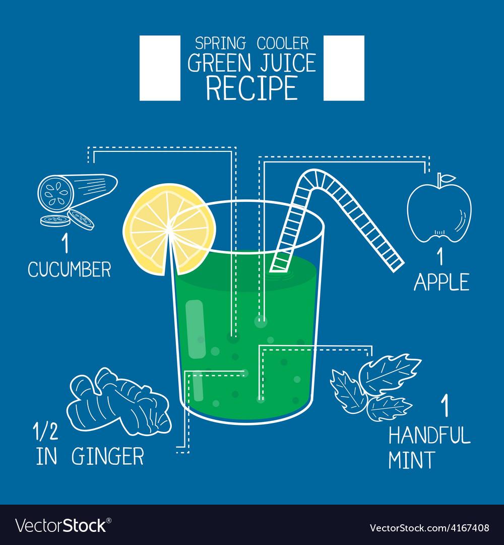 Green juice recipes great detoxifier vector | Price: 1 Credit (USD $1)