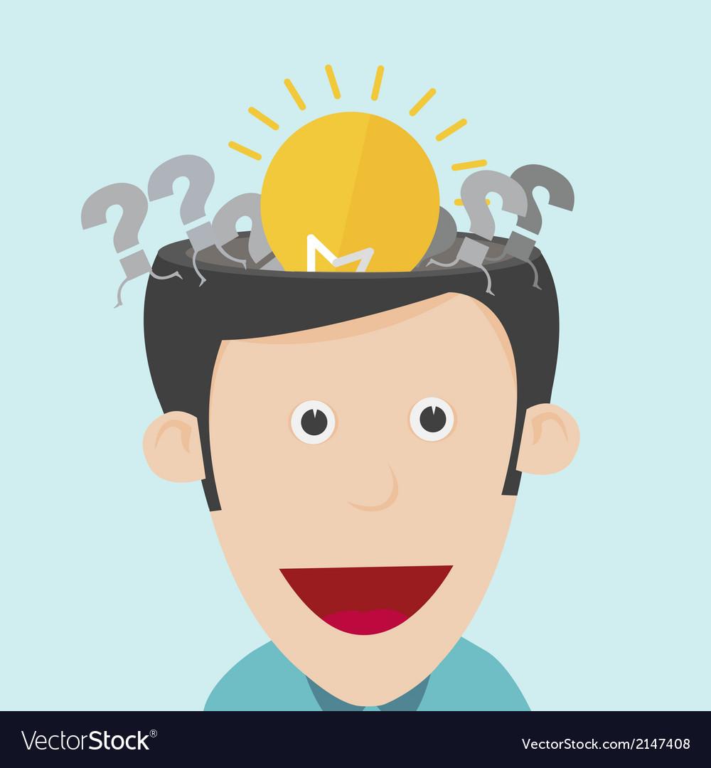 Idea concept with open the human head vector | Price: 1 Credit (USD $1)