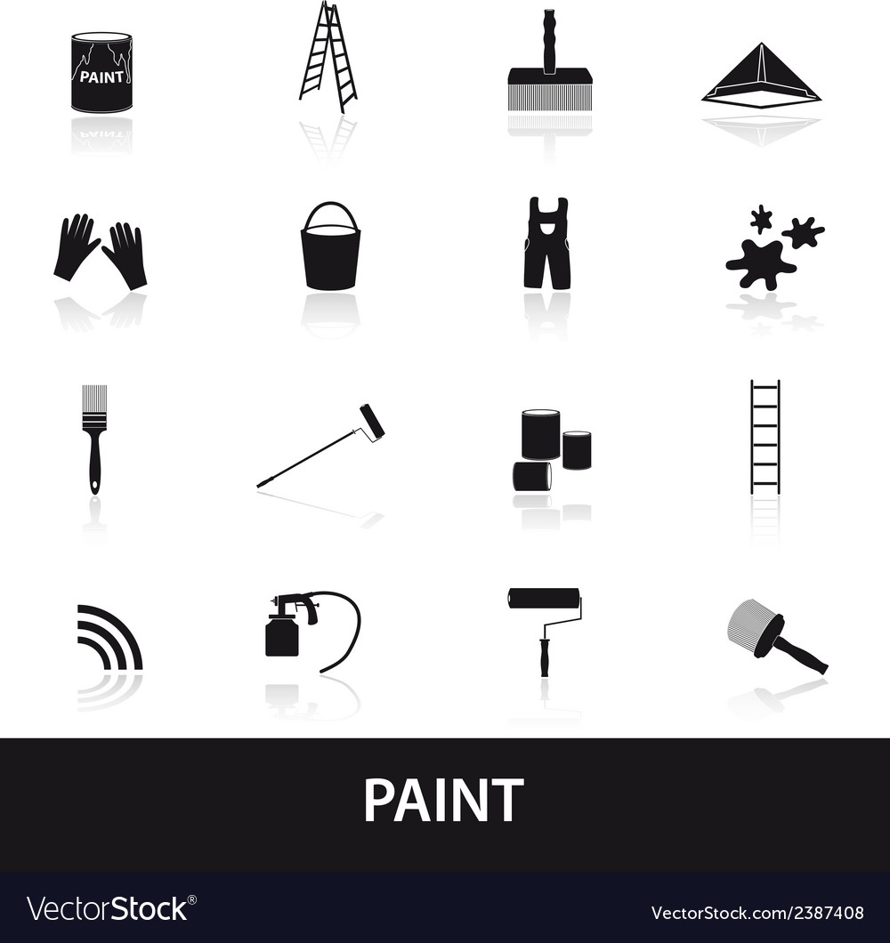 Paint icons set eps10 vector | Price: 1 Credit (USD $1)